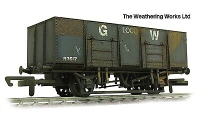 Dapol 21t BR / GW Mineral / Coal Hopper Wagon +optional Load *PRO WEATHERED LOOK • 19.99£