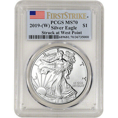 $37.01 • Buy 2019-(W) American Silver Eagle - PCGS MS70 - First Strike