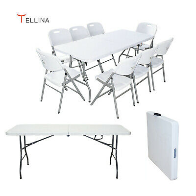 £45.99 • Buy Folding Table 1.8M 6FT Steel Dining Camping Trestle Picnic Match The Chair UK