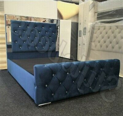 5FT KING SIZE Chesterfield Sleigh Bed With Ottoman Storage TOP QUALITY  • 639£