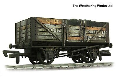 Dapol 5 Plank BR Ex PO Open Coal Wagon + Optional Load *PRO WEATHERED LOOK*** • 12.99£
