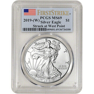 $27.69 • Buy 2019-(W) American Silver Eagle - PCGS MS69 - First Strike