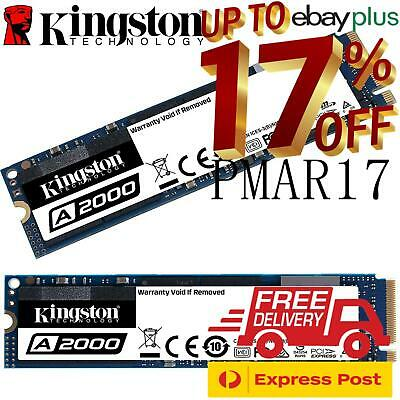 AU109 • Buy Kingston 250GB 500GB 1TB M.2 SSD A2000 2280 NVMe PCIe Internal Solid State Drive