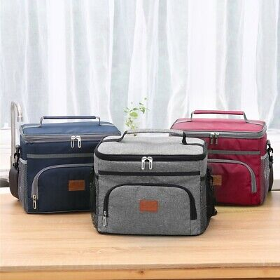 AU28.20 • Buy 15L Outdoor Portable Lunch Bag Thermal Insulated Food Container Cooler Bag