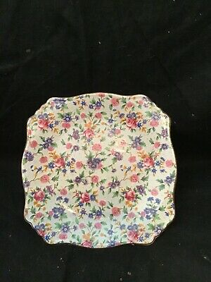 $ CDN62.48 • Buy Vintage Royal Winton Grimwades Old Cottage Chintz Footed Compote Cake Plate
