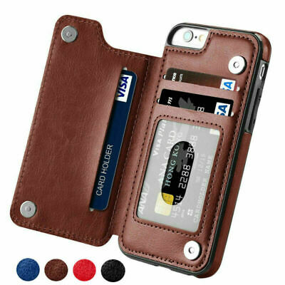 AU14.99 • Buy Leather Wallet Card Holder Phone Case IPhone 12 11Pro Max XR Samsung S9 S10 Plus