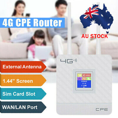AU65.99 • Buy Dual Antenna 4G LTE CPE Router WiFi Wireless Repeater Sim Hotspot Card LAN Modem