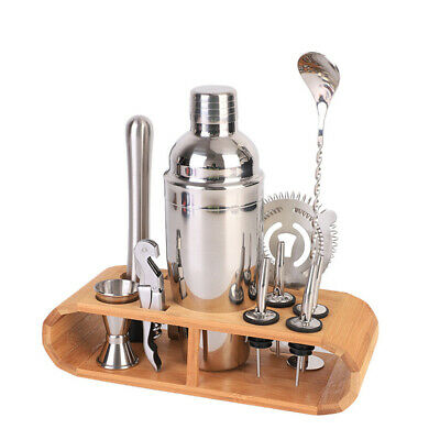 12 PCS Cocktail Shaker Set Mixer Bartender Stainless Steel Martini Jigger Gift • 25.99£