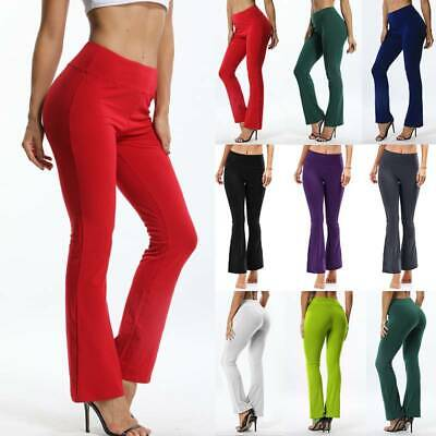 AU27.98 • Buy Women Bootcut Yoga Pants Legs Bootleg Flare Trousers Workout Fitness Running AU