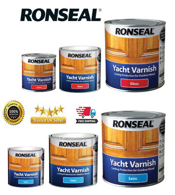 Ronseal Yacht Varnish  Exterior Long Lasting - ALL SIZES • 10.99£