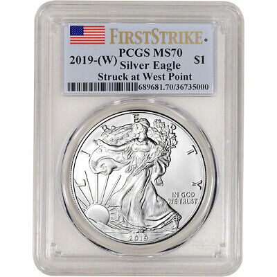 $34 • Buy 2019-(W) American Silver Eagle - PCGS MS70 - First Strike