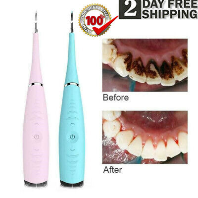 $11.99 • Buy Ultrasonic Teeth Cleaning Tooth Calculus Tartar Stain Remover Dental Cleaner New