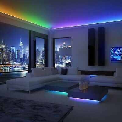 $19.80 • Buy LED Color Changing Light Strip Bluetooth APP Controlled 3M 5050 RGB Remote