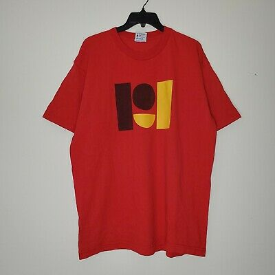$ CDN40 • Buy Vintage Pearl Jam Double Sided Red Graphic Shirt Made In USA Size XL