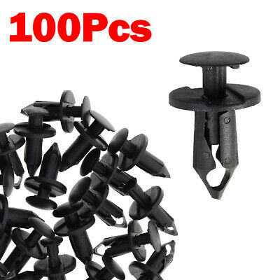 $5.93 • Buy 100pc Clips For Hole Plastic Rivets Retainer Fender Bumper Push Pin Fastener 8mm