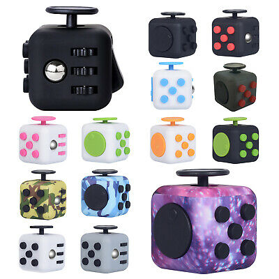 AU11.49 • Buy Fidget Cube 3D Focus Stress Reliever Toys Anti-anxiety Colourful Hand Kids Adult