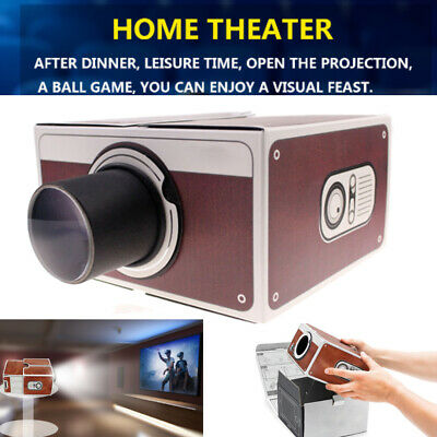 Smart Phone Projector Mini Theater Cinema Screen Amplifier For Android/iPhone • 9.19£