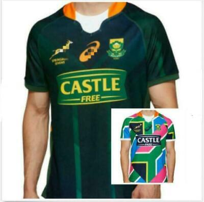 20-21 South Africa 7-person System Rugby Jerseys Short Sleeve T-shirt S-3XL UK • 16.98£