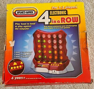 Electronic 4 In A Row (connect 4) - Spears Games - Vintage Boxed With Batteries • 0.99£