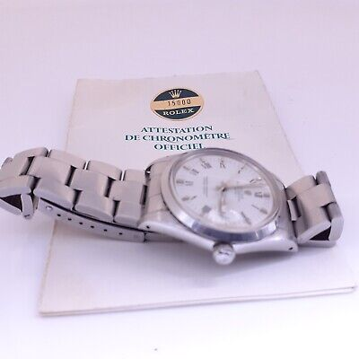 $ CDN4398.39 • Buy Rolex Date 34 Mm Quick Set Steel Automatic Oyster Watch 15000 With Papers 1982