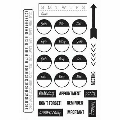 AU8.99 • Buy KaiserCraft Hello Today Clear Stamp ~ Planner Planning Month Day Year Date To Do