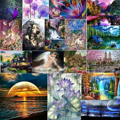 AU12.07 • Buy 5D Diamond Painting Kits Cross-Stitching Embroidery Landscape Arts Crafts Tools