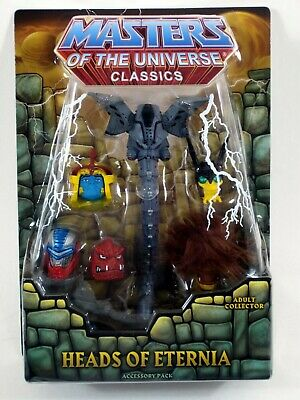 $24.99 • Buy DAMAGED PACKAGE* Masters Of The Universe Classic HEADS OF ETERNIA Accessory MOTU