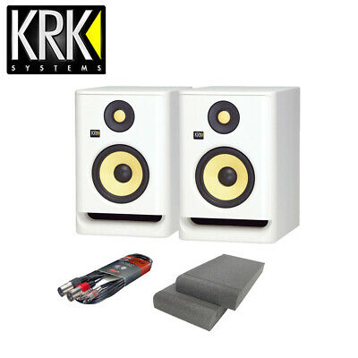 £279 • Buy KRK RP5 G4 Studio Monitors White Noise With Isolation Pads & Cable Package