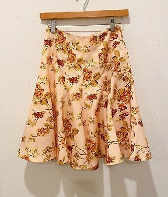 $30 • Buy Vintage Floral Print Fit And Flare Skirt (zimmermann Style) Size Small