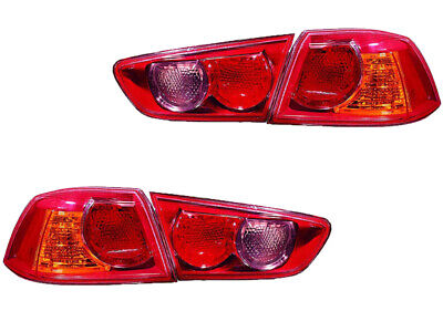 $230.95 • Buy Mitsubishi Lancer De Es Gts Ralliart Evolution 08 09 Inner Outer Tail Light Pair