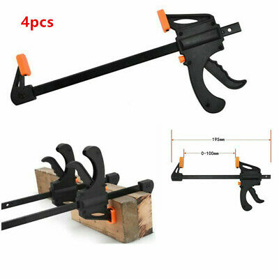 4X Woodworking Clip Bar F Clamp Grip Quick Ratchet Release Squeeze Hand Bar Tool • 9.59£