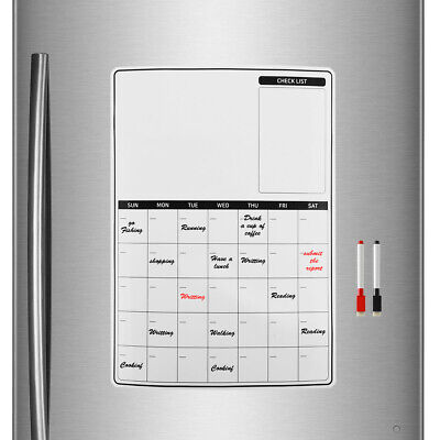 Weekly Menu Board,Magnetic Refrigerator Whiteboard,Shopping List, Meal Planner  • 5.49£