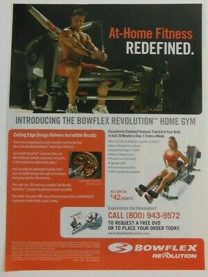 $ CDN6.30 • Buy Bowflex Revolution Print Ad Poster Art Fitness Advertising Exercise Workout