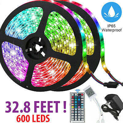 $18.99 • Buy 32FT Flexible 3528 RGB LED SMD Strip Light Remote Fairy Lights Room TV Party Bar