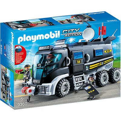 PLAYMOBIL 9360 City Action SWAT Truck With Working Lights And Sound • 45.95£