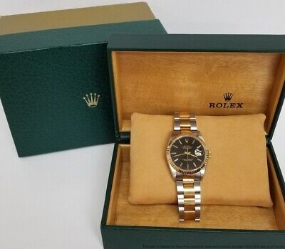 $ CDN6045.77 • Buy Finest Vintage 16233 Rolex Datejust 18k Gold SS Oyster Bracelet W Box Sticker