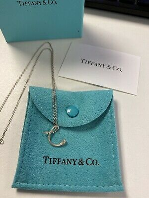 $49.95 • Buy Tiffany & Co. Sterling Silver Elsa Peretti Small Letter  C  Pendant Necklace
