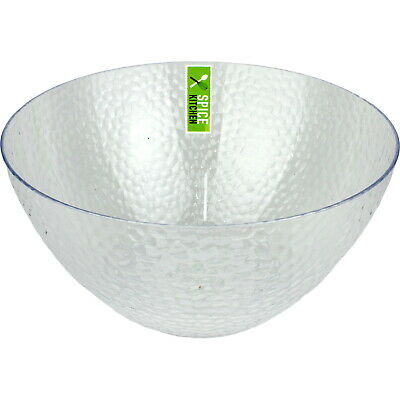 AU5.99 • Buy Ripple Style Clear Large Plastic Serving Bowl 25.5cm Catering Party Supplies