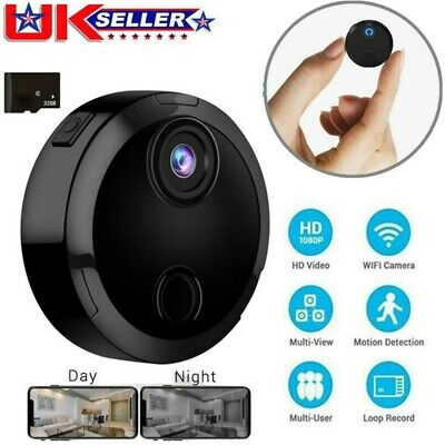 View Details Mini Spy Camera Wireless Wifi IP Home Security 1080P DVR Night Vision Remote UK • 31.99£