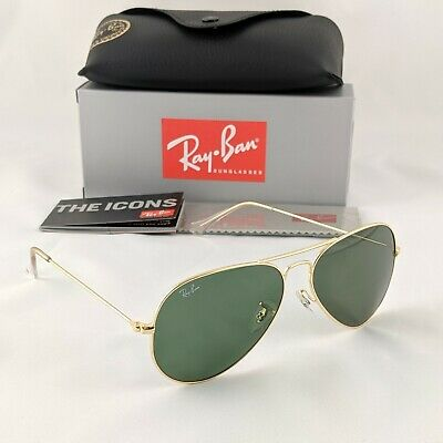 AU59 • Buy Ray-Ban Aviator Large 62mm - Gold Green Sunglasses - RB3026 L2846 62-14