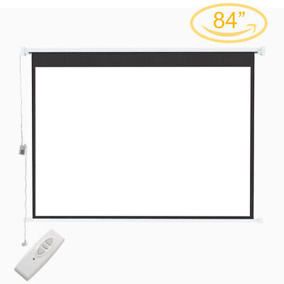 £79.95 • Buy Portable Electric Projection Screen 84  Motorised Pull Down Projector Cinema HD
