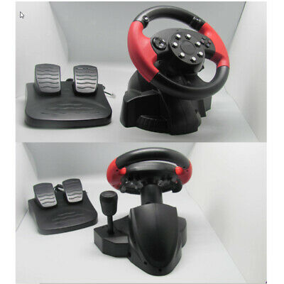 Pro Racing Car Bus Driving Simulator Steering Wheel And Pedal Set For PS3/2 PC • 48.77£