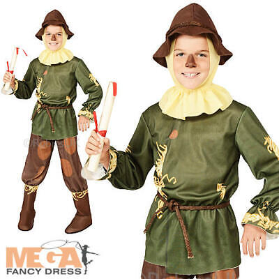 Wizard Of Oz Scarecrow Boys Fancy Dress Book Week Kids Childrens Costume Outfit • 19.49£