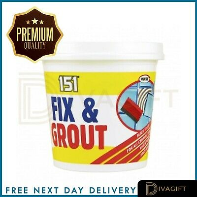 Waterproof Tile Adhesive Bond It Fix And Grout Ready Mixed Grout White 500g • 5.70£