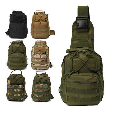 $16.99 • Buy Tactical Sling Bag Pack Small EDC Molle Assault Military Army Shoulder Backpack