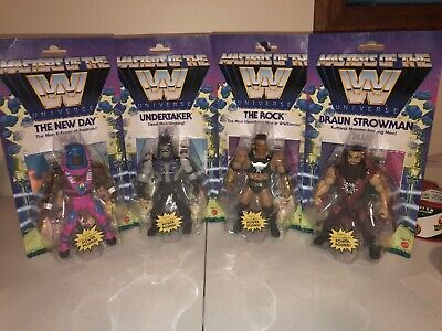 $159.99 • Buy Masters Of The WWE Universe Set Wave 3 The Rock Undertaker New Day Strowman