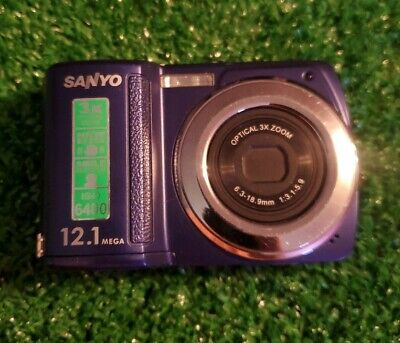 $4.99 • Buy Sanyo Xacti VPC-S1275 12.0MP Digital Camera - Purple Parts Only System Error