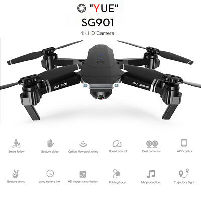 SG901 4K Drone With Camera Optical Flow Positioning MV Interface Follow Me J5I4 • 81.43£