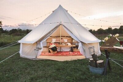 AU599 • Buy AU Shipped 3M/4M/5M/6M Family Camping Cotton Canvas Bell Tent Glamping Yurt Tent
