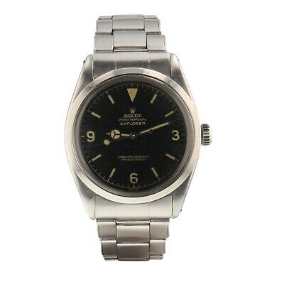 $ CDN31693.19 • Buy Rolex Vintage Explorer Chapter Ring Steel Automatic Watch Gilt Dial 1016